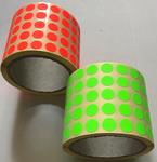 Etiketa 13mm, kruh, červená signální / 5000ks