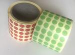 Etiketa 13mm, kruh, zelená / 5000ks