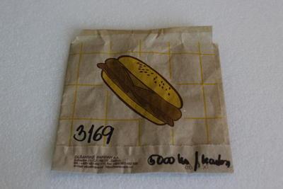 Sáček papírový na hamburger 13 x 13cm / karton ?ks