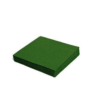 Ubrousek 3-vrstvý, 40 x 40cm zelený tmavý / 250ks