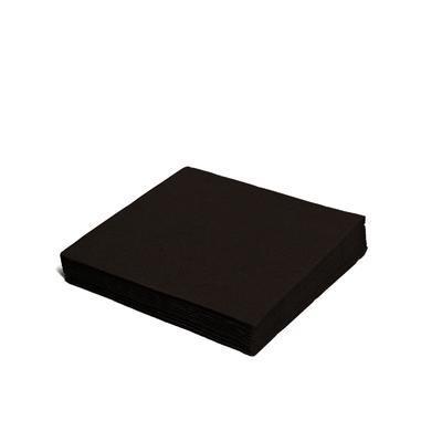 Ubrousek 3-vrstvý, 40 x 40cm černý / 250ks