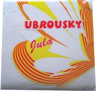 Ubrousek Jula, 33 x 33cm bílý / 70ks