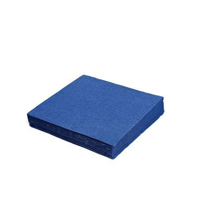 Ubrousek 3-vrstvý, 40 x 40cm modrý tmavý / 250ks