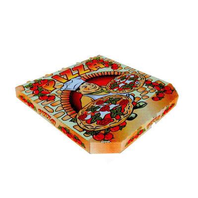 Krabice na pizzu potisk 32,5 x 32,5x 3cm / 100ks - 1