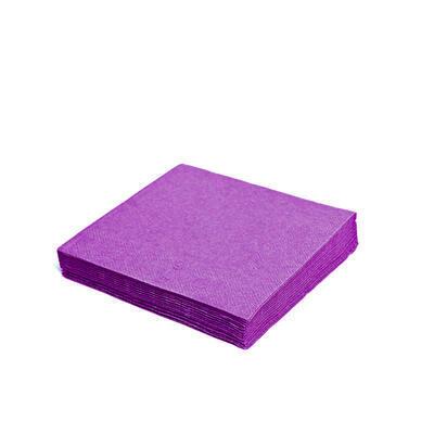 Ubrousek 3-vrstvý, 40 x 40cm fialový tmavý / 250ks