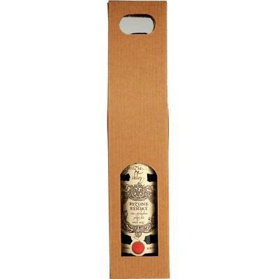 Krabice na víno, 1 láhev 7,8 x 7,8 x 38cm / 1ks