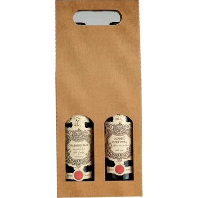 Krabice na víno, 2 lahve 16 x 7,8 x 38cm / 1ks