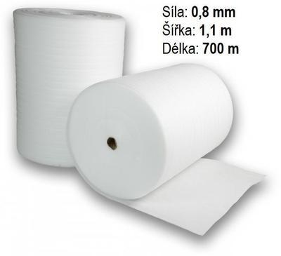 Pěnová fólie síly 0,8mm, 1,1 x 700m