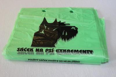 Sáček na psí exkrementy 20 x 35cm, 14µm / 100ks