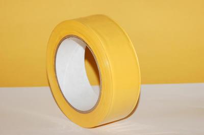 Lepící páska PVC žlutá (zakrývací), 38mm x 33m